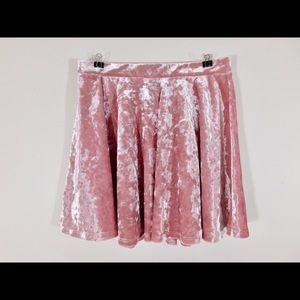 Flowy velvet skirt